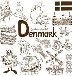 Collection denmark icons vector