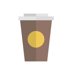 Cup container flat design vector