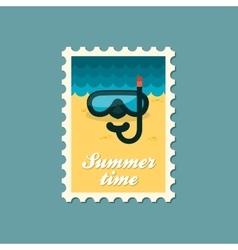 Diving Mask flat stamp summertime vector image