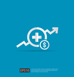 Expensive health medicine cost concept healthcare vector
