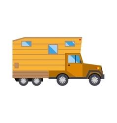 Family traveler truck summer trip concept caravan vector