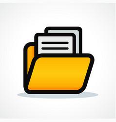 files folder icon design vector image