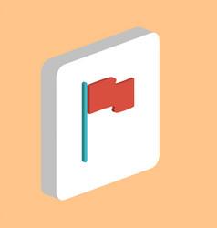 flag computer symbol vector image