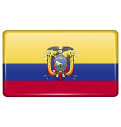 Flags Ecuador in the form of a magnet on vector