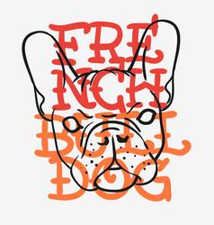 french bulldog graphics for tee print t shirt vector image