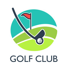 golf country club logo template or icon vector image