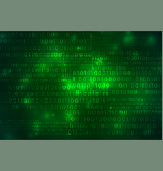 green binary code technology digital background vector image