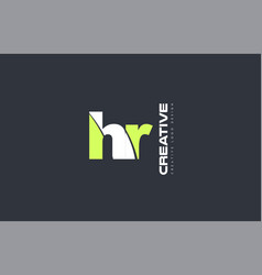 green letter hr h r combination logo icon company vector image