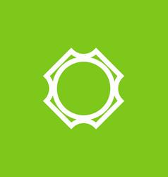 green white unique circle shape vector image