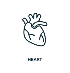 heart icon outline style thin line creative heart vector image