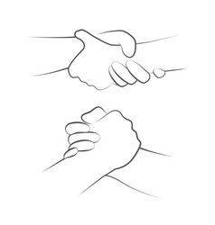helping hands on white vector image