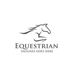 Horse racing logo template vector