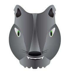 isolated werewolf mask vector image