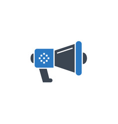 loud speaker related glyph icon vector image