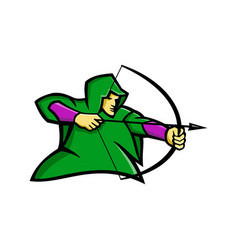 Medieval archer mascot vector