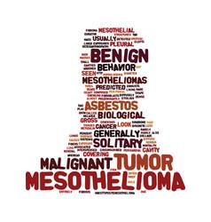 Mesothelioma biological behavior text vector