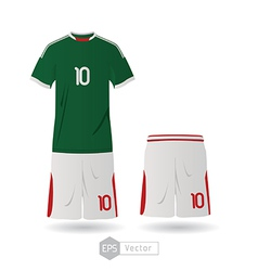 mexico team uniform 02 vector image