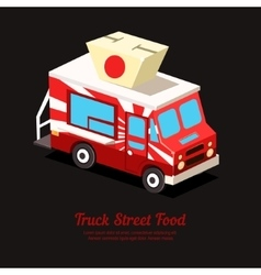 Mobile Food Van vector image