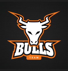 modern professional bull logo for a sport team vector image