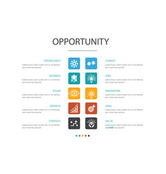 Opportunity infographic 10 option conceptchance vector