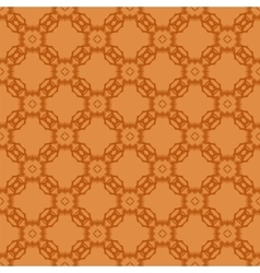 Orange Ornamental Seamless Line Pattern vector