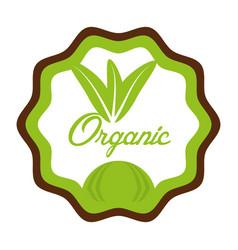organic food fresh nutrition emblem vector image