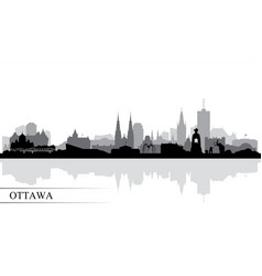 Ottawa city skyline silhouette background vector