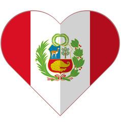 peru heart flag vector image