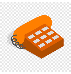 phone handset isometric icon vector image