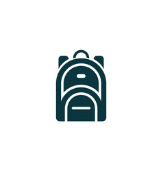 Rucksack icon simple vector