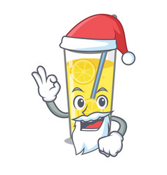 Santa lemonade mascot cartoon style vector