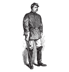 Savannah sergeant police vintage vector