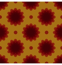 Seamless symmetrical floral ornament vector