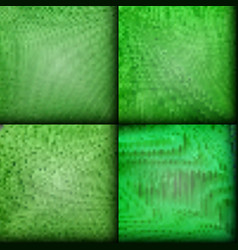 set of green texture background vector image