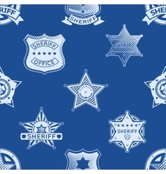 Sheriff badge seamless pattern vector
