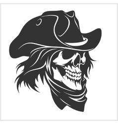 Skull in hat - gangster vector image