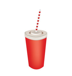 soda cup with straw vector image