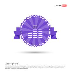 Sound beats icon - purple ribbon banner vector
