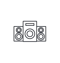 speakers sound celebration party line design icon vector image