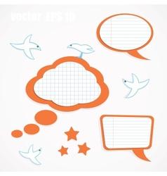 Speech bubbles and birds vector image
