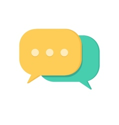 Speech bubbles Chat symbol vector image