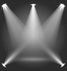 Stage illumination with white transparent vector