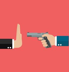 Stop gun violence vector