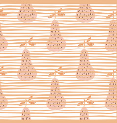 summer juicy fruit wallpaper doodle pears vector image