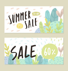summer sale flyers vector image