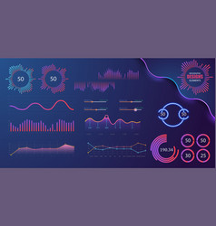technology graphics and diagram vector image