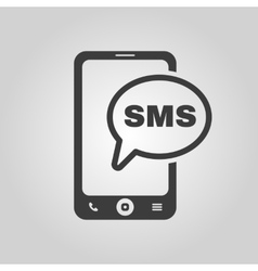 The sms icon Smartphone and telephone vector image