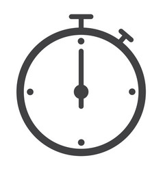 timer glyph icon web and mobile wallpaper sign vector image