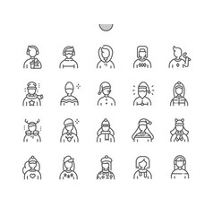 winter avatar well-crafted pixel perfect vector image