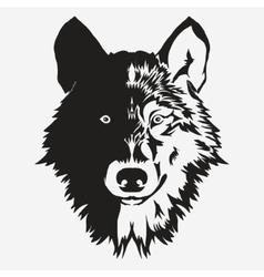 Wolf bolt Emblem vector